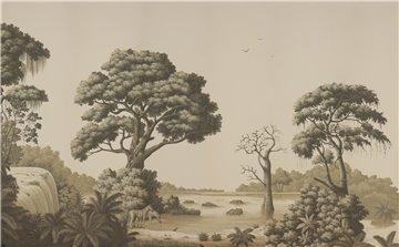 African Savannah Terre Foncée on scenic paper