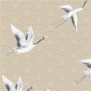 Japanese Cranes Rich Gold DYW0013