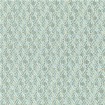 Louvre Teal and Gold CH01322