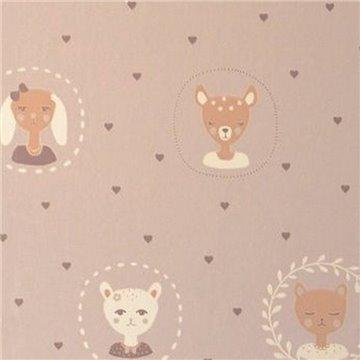 Hearts Dusty Warm Lilac 148-02