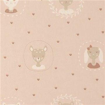 Hearts Dusty Warm Pink 148-01
