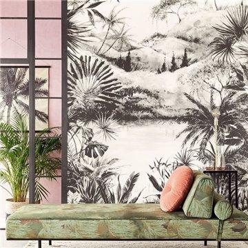Boho Tropical Charcoal 309100