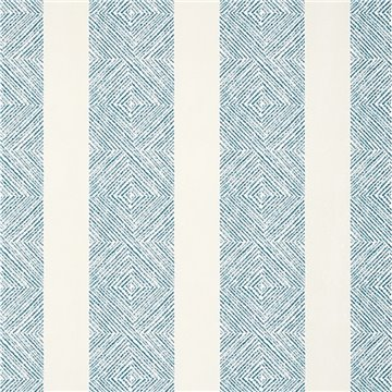 Clipperton Stripe Blue on Natural AT15129