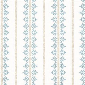 Fern Stripe Spa Blue AT15103