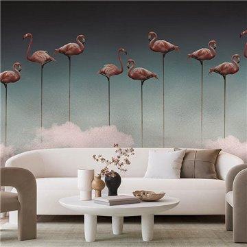 Flamingos Mural M3911-2