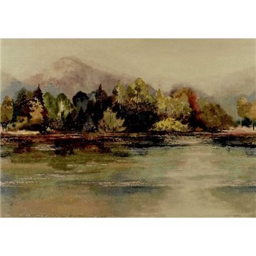 Lakeside Autumn Gold Luxury Landscape 2109-155-01