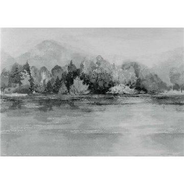 Lakeside Pewter Grey Luxury Landscape 2109-155-04