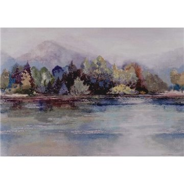 Lakeside Sunset Pink Luxury Landscape 2109-155-03