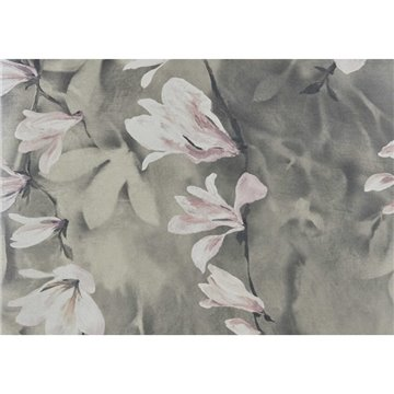 Trailing Magnolia Burnished Gold Luxury Floral Wall Mural 2109-158-04