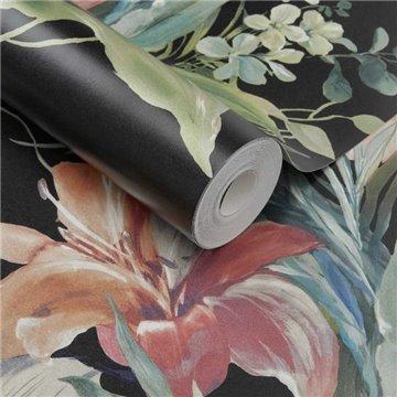 Lilliana Jet Black Luxury Floral 2109-154-03
