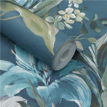 Lilliana Peacock Blue Luxury Floral 2109-154-04