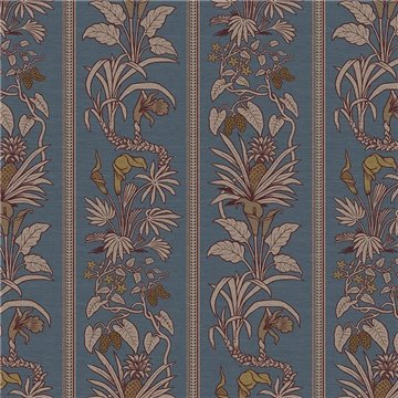 Botanize Heritage Grasscloth Whale Blue DVS054